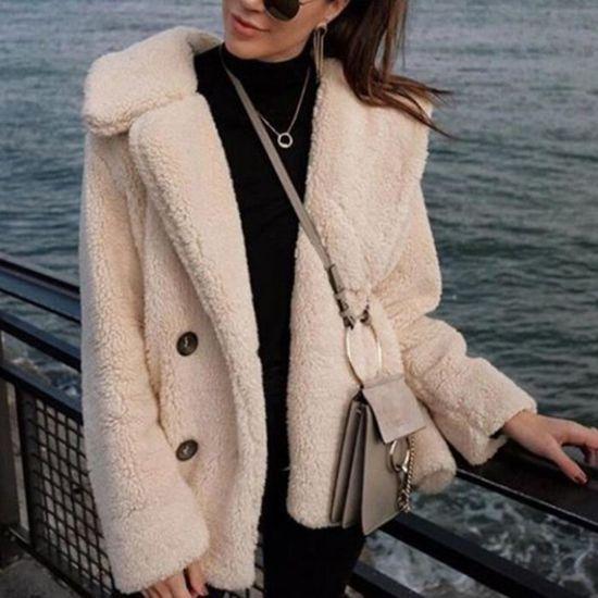 Kaki Manteau Outwear Parka Chaud Couverture Solide Poil D'hiver Femmes Casual De Pardessus FUfwqCw71