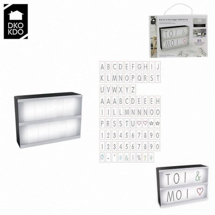 THE HOME DECO LIGHT Boite lumineuse à message - A5 Caractere X 86 - Noir