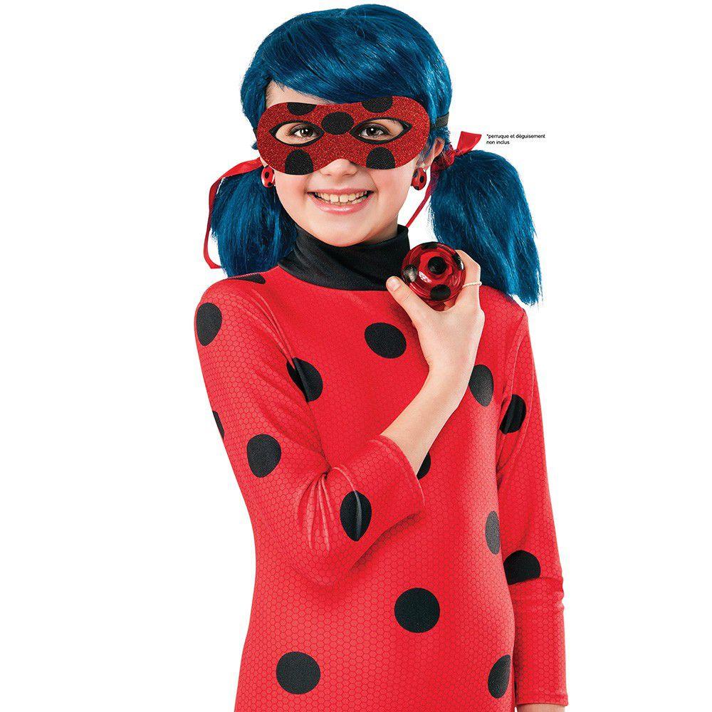 MIRACULOUS Kit blister loup pailleté + Yoyo + Boucles d'oreilles Ladybug