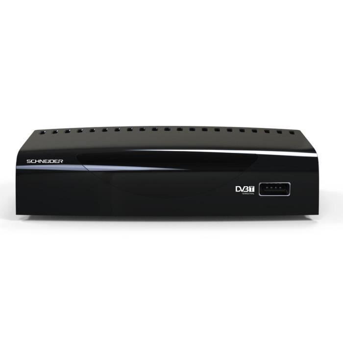SCHNEIDER SC130TNT Adaptateur TNT Haute Définition - PVR REC - Port USB - Sortie HDMI 1080p - Noir