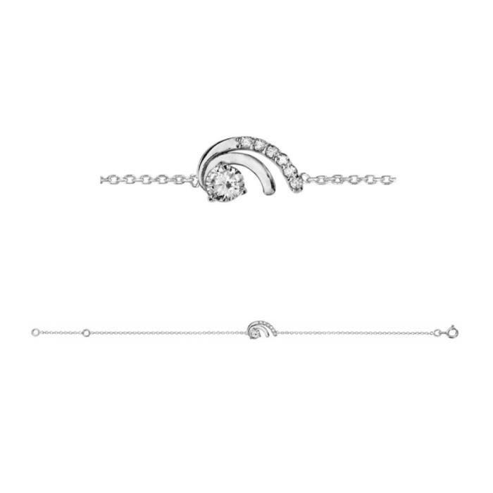 Bracelet Argent 925 et Zirconium Sertis Double Griffes