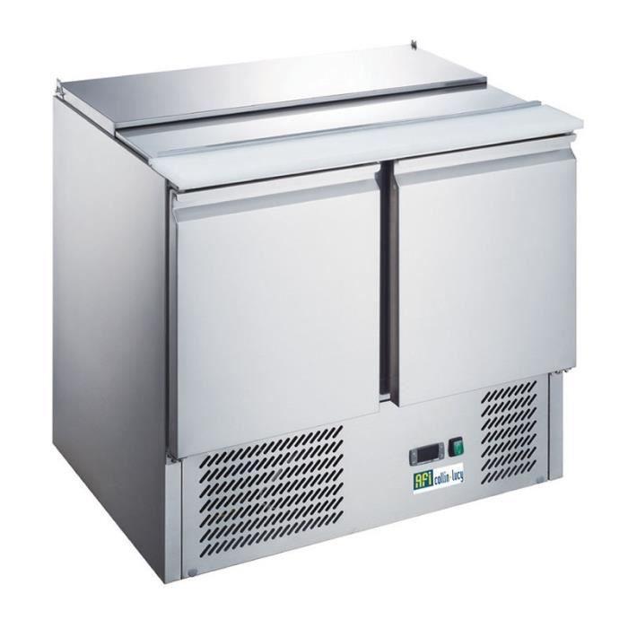 ARMOIRE RÉFRIGÉRÉE Saladette réfrigérée inox - 2 portes