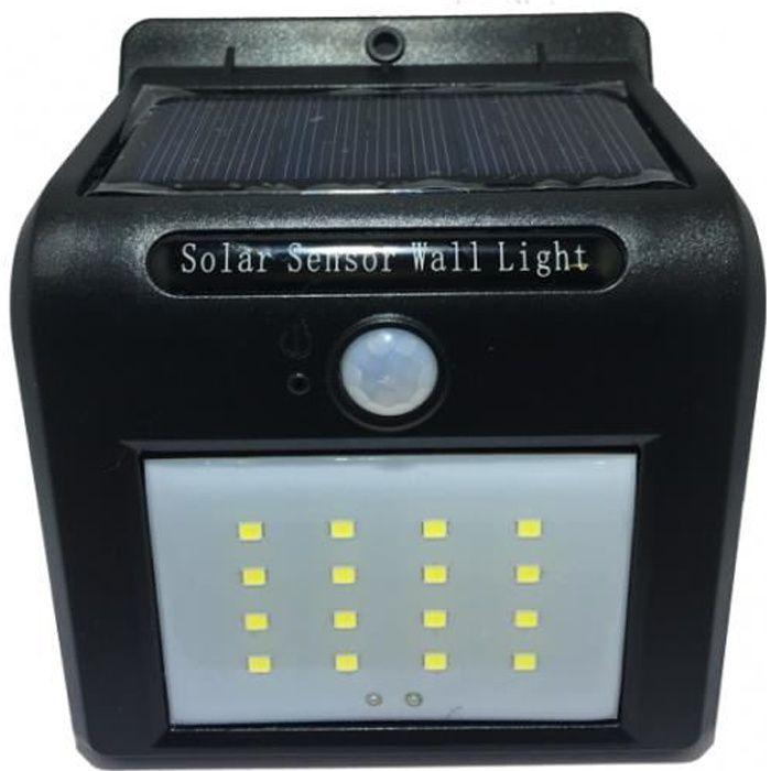 Spot d\'éclairage extérieur solaire Led à détecteur de mouvement ...