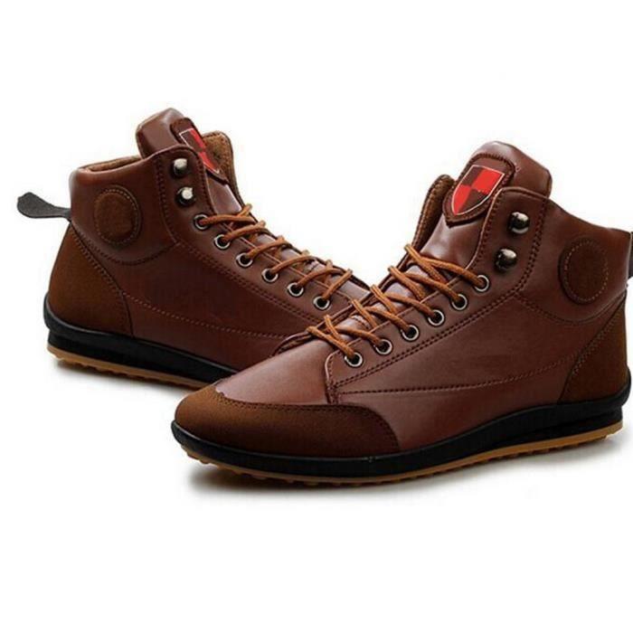 Boots Baskets Fashion Homme Syn Marron foncMa...