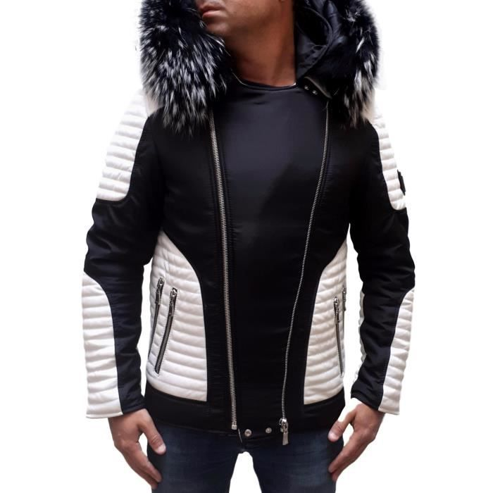 vente en ligne détaillant nouveaux produits chauds Doudoune homme cuir et fourure