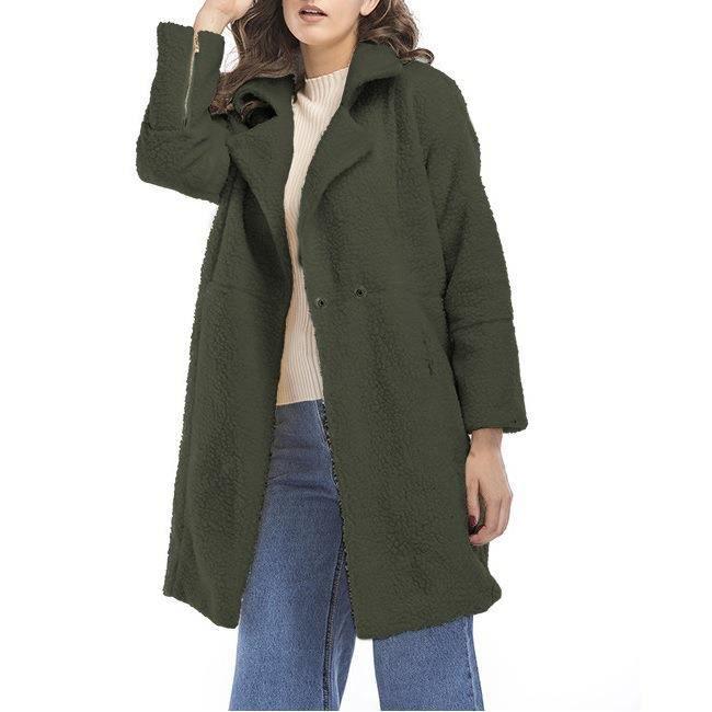 f6838b1a5f8b0 ... fourrure chic et à la mode Vêtements moyens Manteau Vert. PARKA Femme-Fille  Parka d'Hiver chaud et épais en fausse