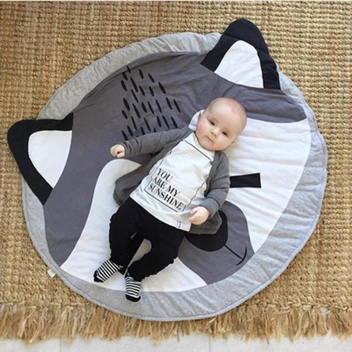 tapis veil tapis de jeu pour b b tapis rond doux animal renard mignon d coration de salle. Black Bedroom Furniture Sets. Home Design Ideas