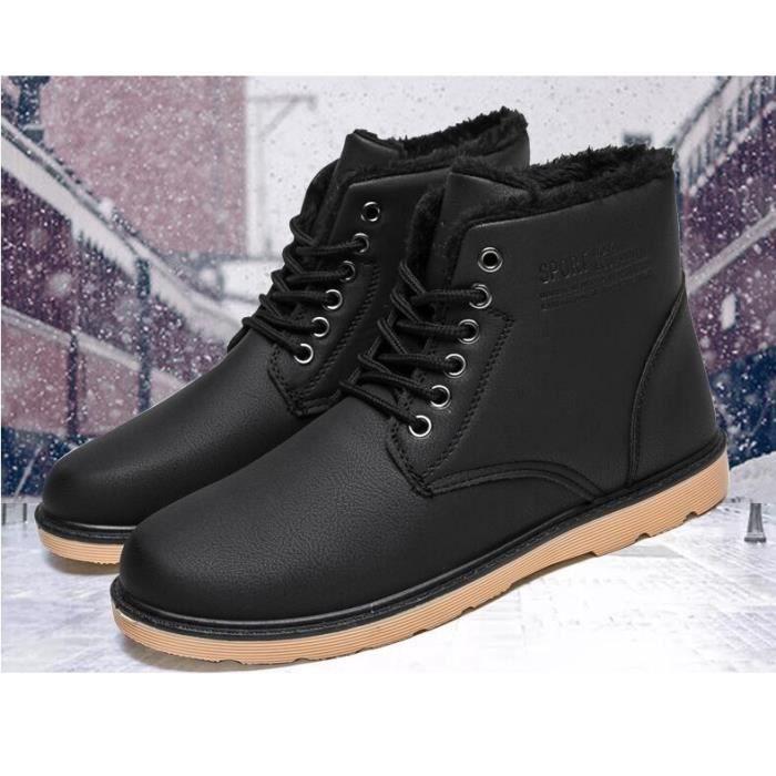 Bottes et boots Bottes de neige Femme Coton Chaussures Hiver Chaud Bottes Courtes Chaussures pour femmes Raquettes à neige (Couleur : Café couleur, taille : 40)