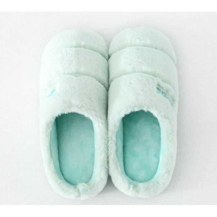 Automne et hiver Hommes et femmes Pantoufles en coton Accueil Grands étages intérieurs Fond doux Fond plus épais Garder des gZWA0R