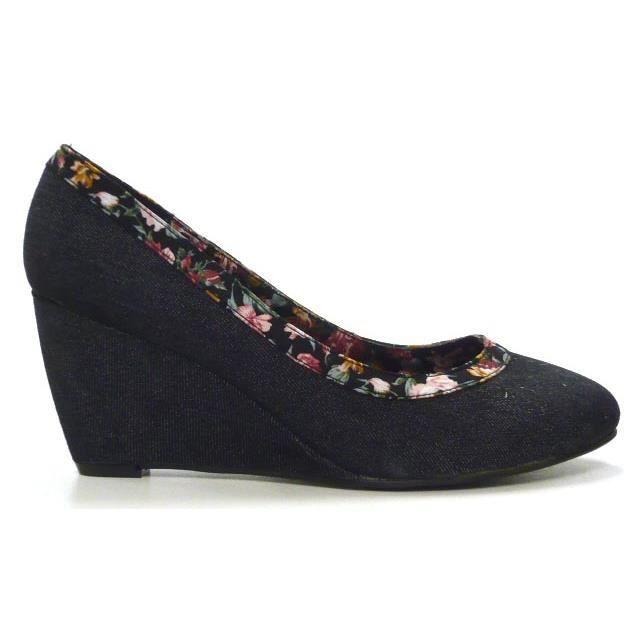 Élégant Noir Chaussures Coin Femmes Designer 36 L'escarpin W4H8gwx