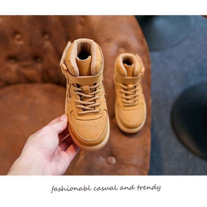 Basket Les enfants unisex tombent et les chaussures de sport décontractées en cuir d'hiver