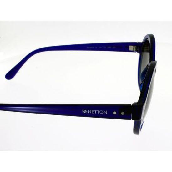 BENETTON BE 985 S Bleu translucide Mixte Indice 3 - Achat   Vente lunettes  de soleil Mixte Adulte - Cdiscount c90c47f1cc17