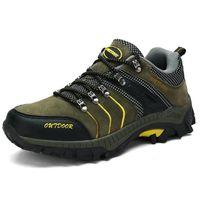 chaussurepour Homme vert gris jaune Hiver - automne de mode économique extérieur Chaussures de randonnée pour homme KPpoB7