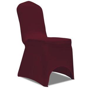 CHAISE Magnifique Housse bordeaux extensible pour chaise