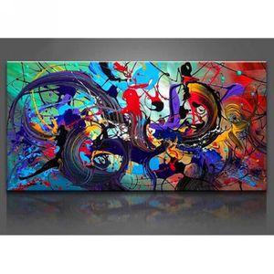 TABLEAU - TOILE Peinture à l'Huile Toile Peinte Main Tableau Art C