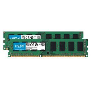 MÉMOIRE RAM Crucial CT2K25664BD160BJ, 4 Go, 2 x 2 Go, DDR3, 16