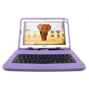 CLAVIER POUR TABLETTE Etui violet + clavier iQWERTY pour tablettes Archo