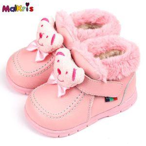 BOTTE Bottes de neige cuir bébé bottes hiver Bear chauss