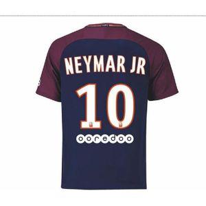 Maillot Enfant PSG Paris Saint-Germain Home Flockage Officiel Neymar Numéro  10 Saison 2017-2018 81133f305dc