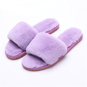 chaussons hiver femmes Peluche courte chaussure de luxe de marque Série à domicile pantoufles fourrées femme a dssx372rouge40 IiXKs3
