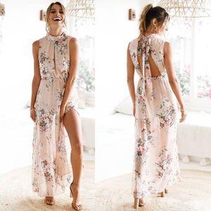 57013a7c03d9e ROBE Napoulen®Boho Plage longue robe maxi en mousseline