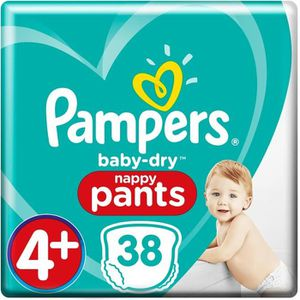 COUCHE PAMPERS Baby Dry Pants Taille 4+, 9-15 kg, 38 couc