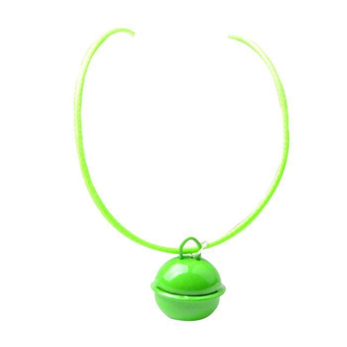Chat Mignon Chiot Longue Chaîne Bell Ball Cire Ligne Collier Sangle Vert