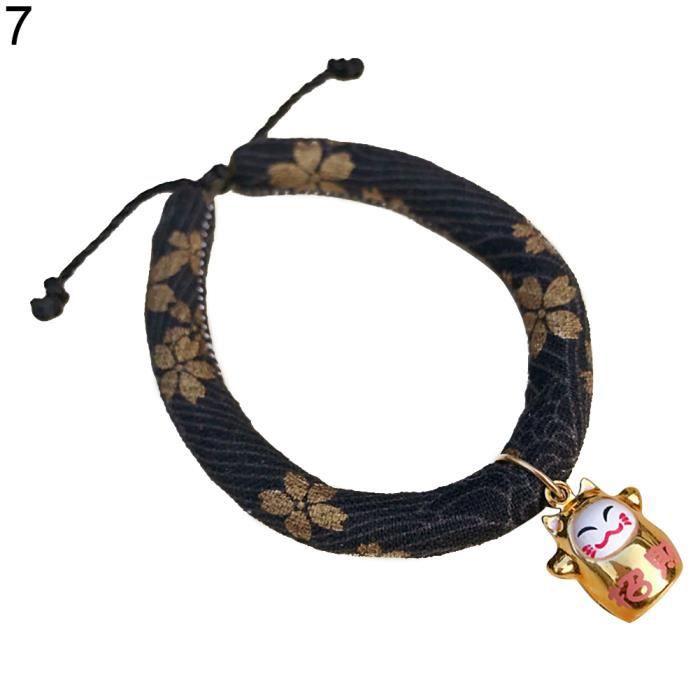 Chanceux Pendentif De Mode Tissu En Coton Réglable Doux Chien Chat Collier Chiot 7 # L