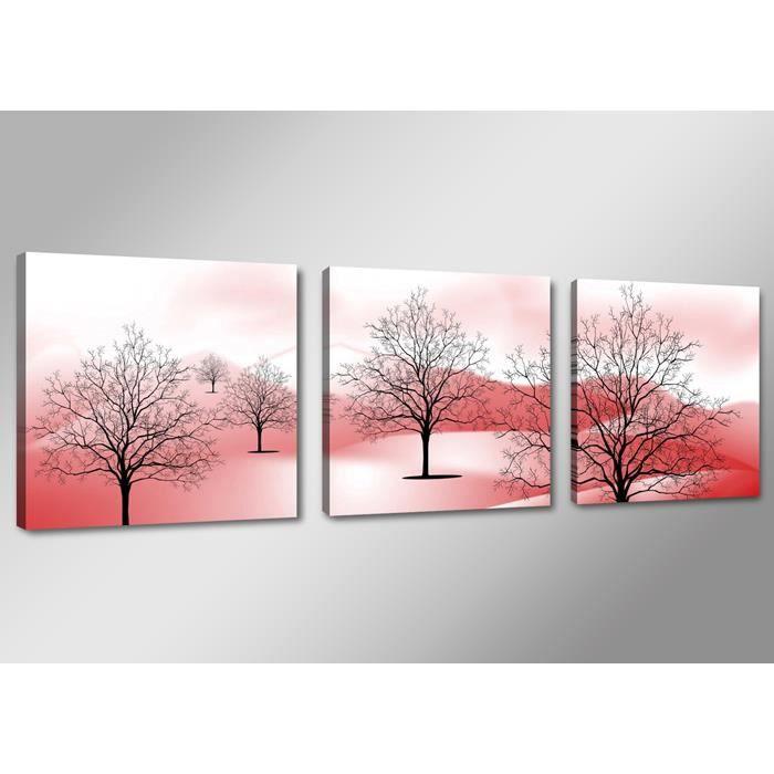 tableau triptyque imprim arbres achat vente tableau toile toile bois cdiscount. Black Bedroom Furniture Sets. Home Design Ideas