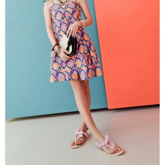Mode Doux Pure Color Thong Sandal Rose 0CzOlRf