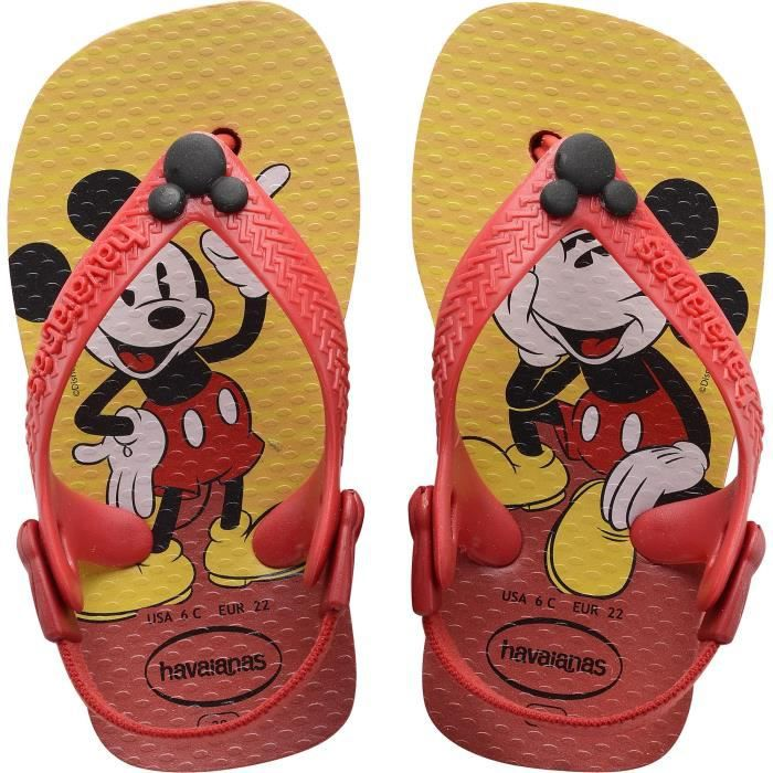 6b39b52ca2c Tongs mixtes HAVAIANAS baby impression Mickey Rouge rouge - Achat ...