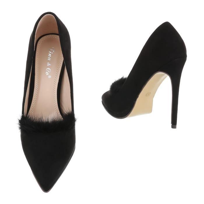 40 rouge Chaussures Heels Femme Beige Escarpin High noir Noir qwXZ0Xxn