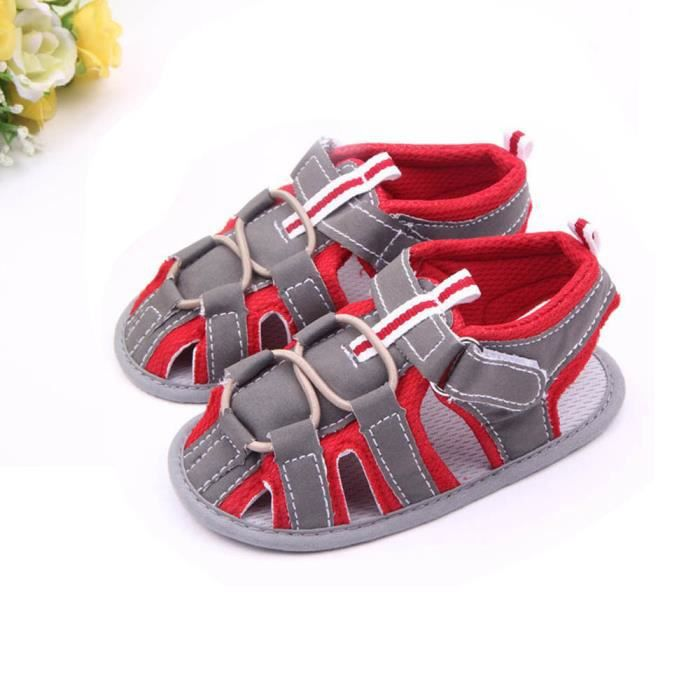 Napoulen®Mode bébé garçons premier marcheur tout-petits chaussures anti-dérapant sandales-XPP2017318 ki39G