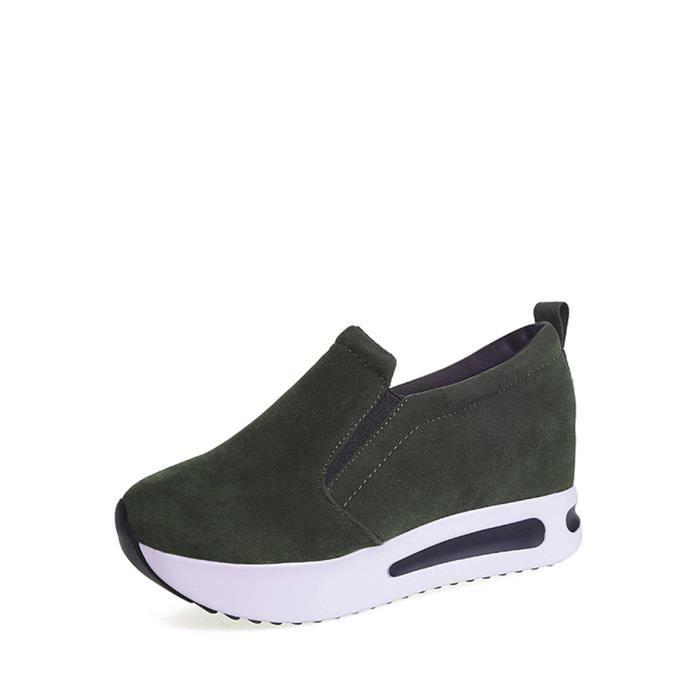 chaussures multisport Mocassins femmes solides sélectionl Casual Comfy caché Ascenseur Mode 9197278