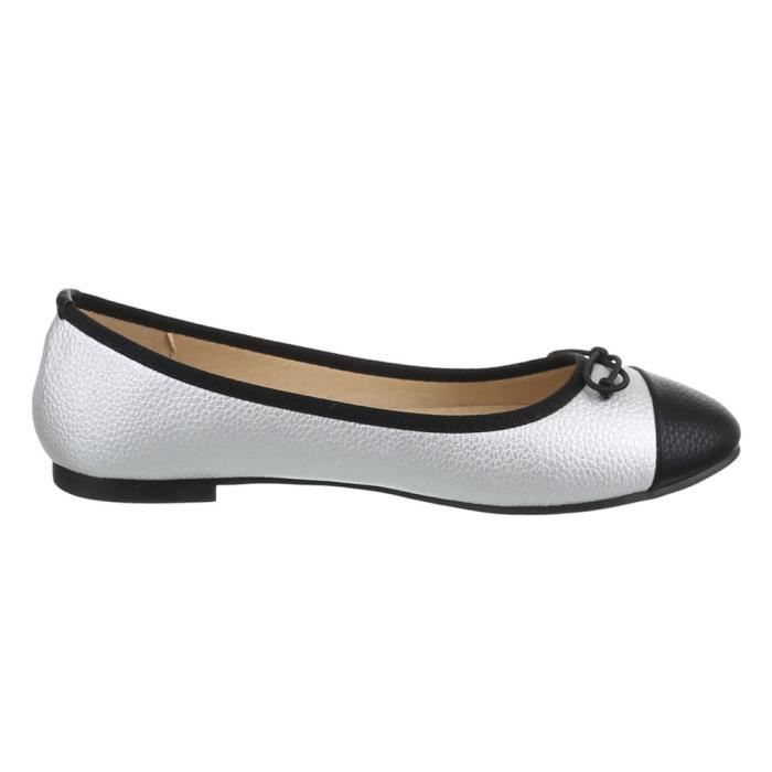 Femme chaussures ballerines escarpin argent 37 b4O4FJW