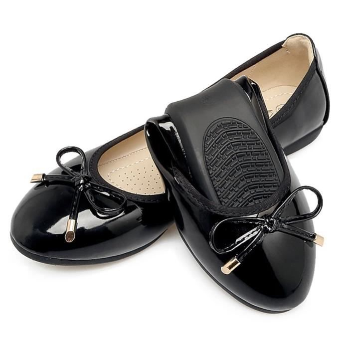 Womens Foldable Bow Slip On Ballet Flats Dress Shoes THVGQ Taille-39