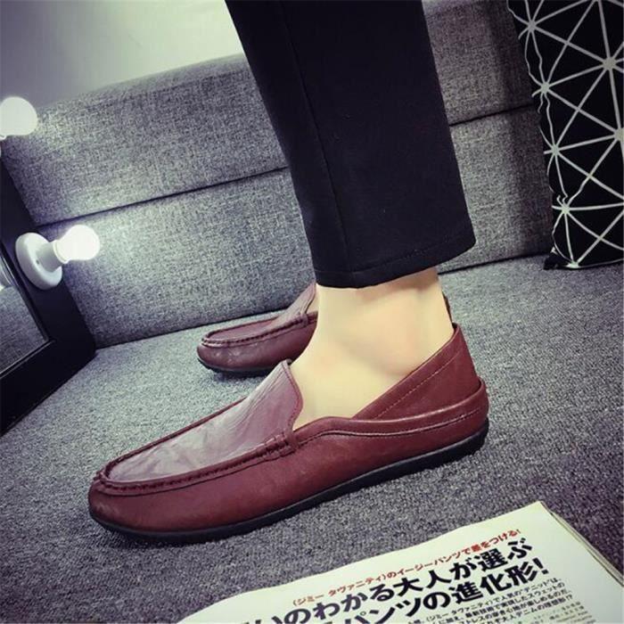 Moccasins homme Nouvelle Mode 2017 marque de luxe chaussure en cuir Grande Taille chaussures homme Respirant Poids Léger Loafer 44