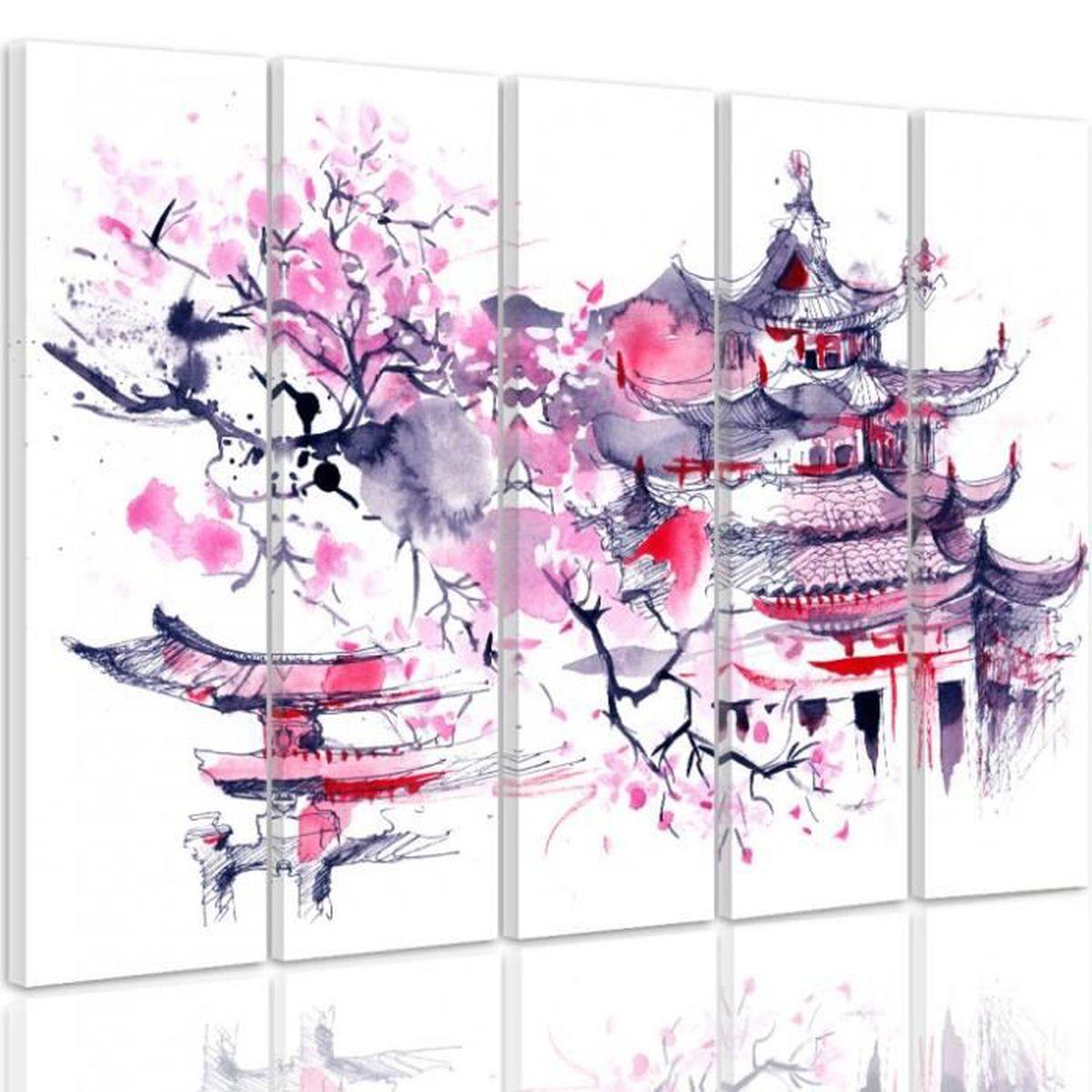 150 x 100 cm tableau d co jardin japonais d coration - Tableau jardin japonais ...
