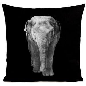 COUSSIN ARTPILO - Coussin ELEPHANT Coton déperlant - Noir