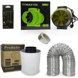 EXTRACTEUR D'AIR Kit extracteur 520m3/h + filtre à charbon Proactiv