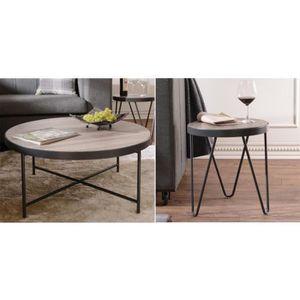 TABLE BASSE Table basse en bois 2 pièces ensemble table d'appo