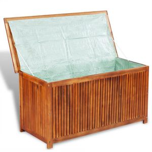 BOITE DE RANGEMENT vidaXL Boîte de rangement pour terrasse en bois d'
