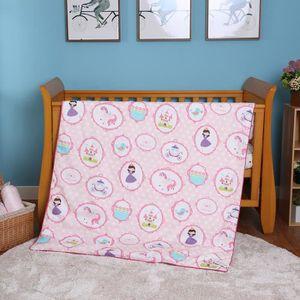 I-baby Berceau Parure de lit 4pièces Berceau Parure de lit de chambre d'enfant Parure de lit de bébé 100% coton imprimé + Drap h