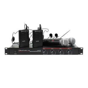 ENCEINTE ET RETOUR Micro VHF Quattro MHL Gr4 2 Mains 2 Serre Tete Boo