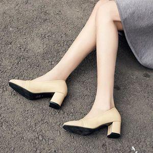 ESCARPIN Mode élégant à talons hauts chaussures pointues So