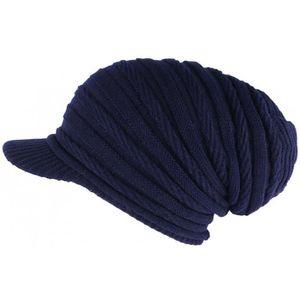 CASQUETTE Bonnet Casquette Rasta Bleu Marine Kift Nyls Créat 32f5e536616