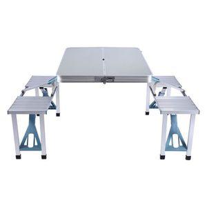 TABLE DE CAMPING Set Table de pique-nique avec 4 Chaises pliant pla