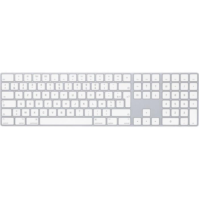 Apple Clavier Magic Keyboard avec pavé numérique - Français