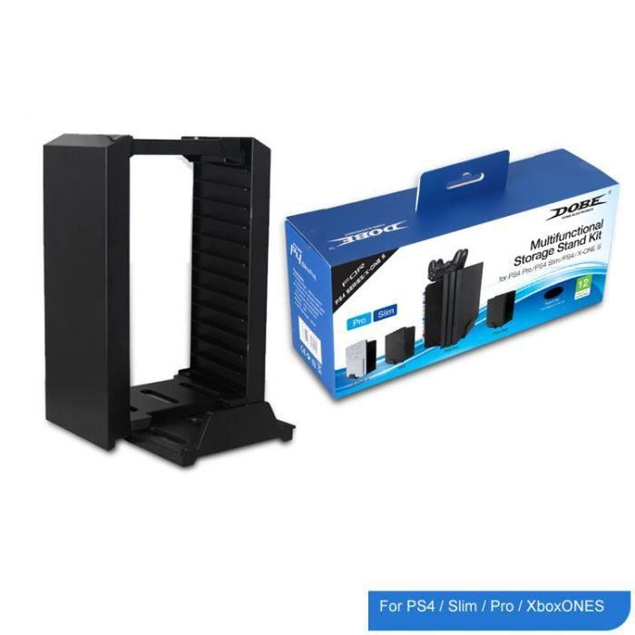 VENTILATEUR CONSOLE Tour de stockage de disque PS4 multifonctionnel /