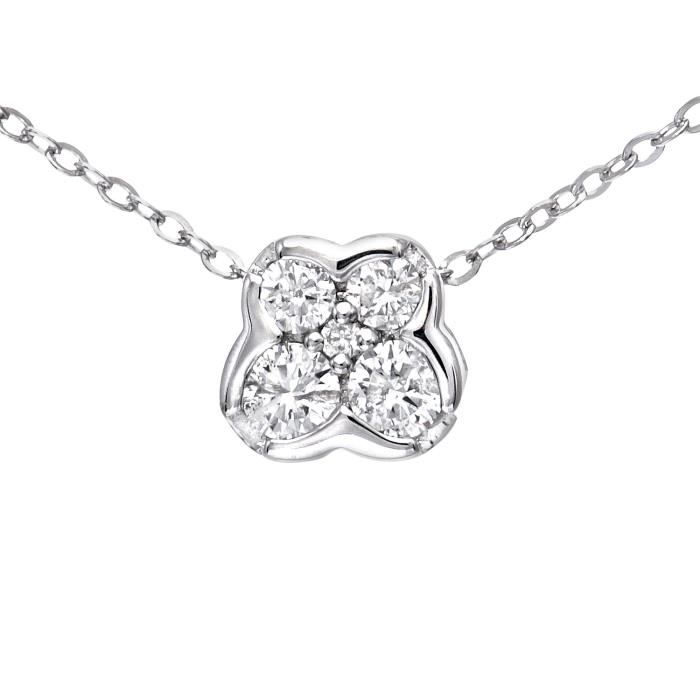9 Ct or blanc 0,15 Ct diamant papillon Pendentif et chaîne Collier de 46 cm 1Z8P0R